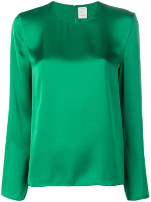Maison Rabih Kayrouz sheen long sleeve blouse