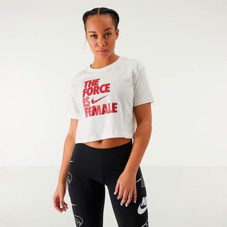 Nike Women's Sportswear Force is Female Crop T-Shirt