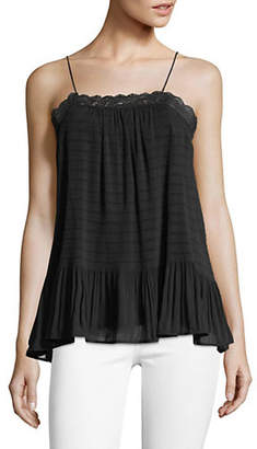 HIGHLINE COLLECTIVE Micro Pleated Lace Cami