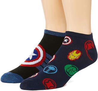Marvel Novelty Socks 2 Pair Low Cut Socks-Mens