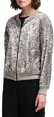 DKNY Sequin Long-Sleeve Jacket