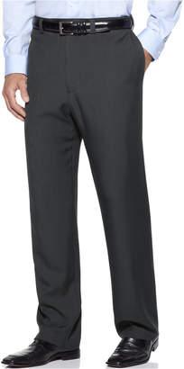 Haggar Men's Eclo Stria Classic Fit Flat Front Hidden Expandable Dress Pants