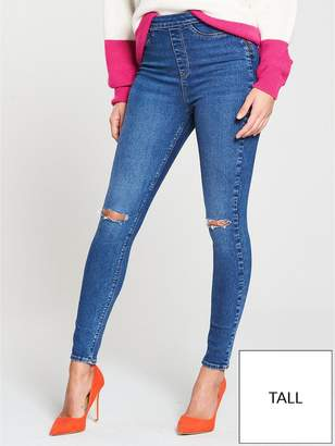 Very Tall Charley High Waisted Super Skinny Rip Jegging - Mid Wash