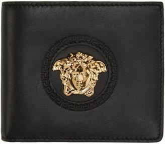 Versace Black Medusa Wallet $375 thestylecure.com