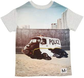 Molo Police Printed Cotton Jersey T-Shirt