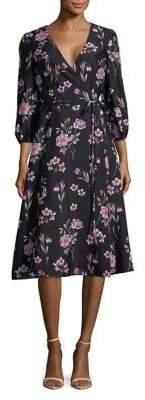 Eliza J Floral Wrap Dress