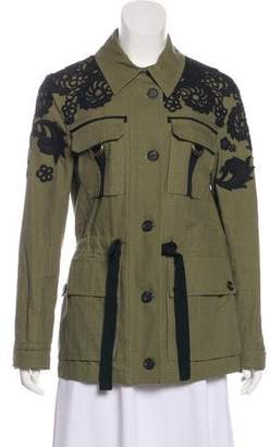 Veronica Beard Embroidered Casual Jacket