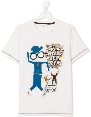 Little Marc Jacobs TEEN Mr Marc print T-shirt
