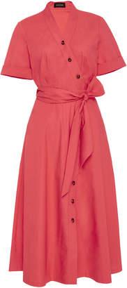 Saloni Asymmetric Cotton Shirt Dress $470 thestylecure.com