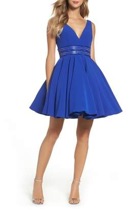Mac Duggal IEENA FOR Embellished Fit & Flare Dress