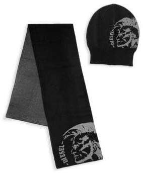 Diesel Two-Piece Hat & Scarf Set