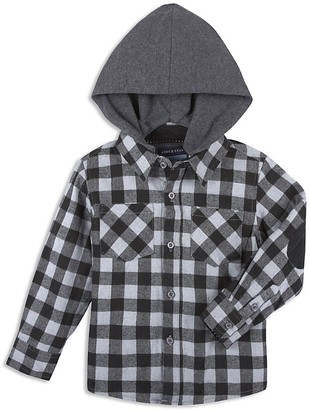 Andy & Evan Boys' Jersey Lined Flannel Check Shirt - Little Kid, Big Kid $52 thestylecure.com