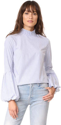 ENGLISH FACTORY Striped Balloon Blouse