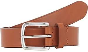 Barneys New York Men's Bridle Leather Belt-Brown