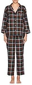 Sleepy Jones Women's Marina Plaid Cotton Flannel Pajama Set