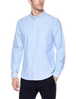 Trimthread Men's Casual Buttoned Collar Standard Fit Long Sleeve Cotton Oxford Shirt Top (