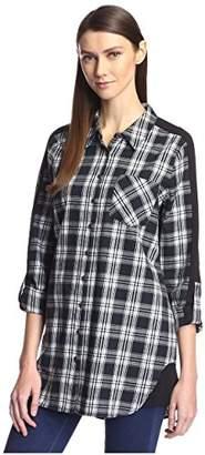 Heartloom Women's Plaid Roll-Sleeve Tunic