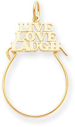 Kevin Jewelers 10k Yellow Gold Live Love Laugh Charm Pendant Holder