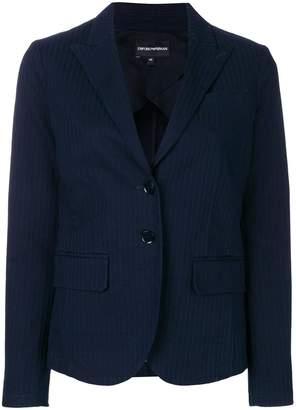 Emporio Armani notch collar fitted blazer