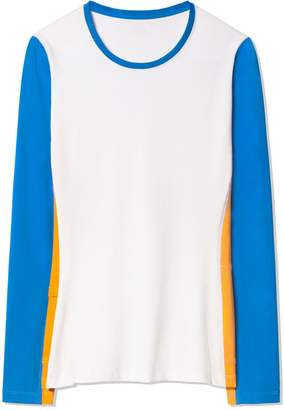 Tory Sport PERFORMANCE COLOR-BLOCK LONG-SLEEVE TOP