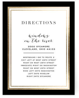 Gold Notes Foil-Pressed Direction Cards