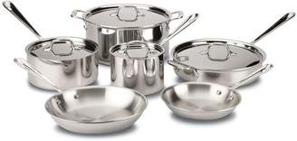 All-Clad 10 Piece Stainless Steel Cookware Set