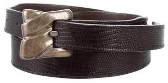 Kieselstein-Cord Lizard Buckle Waist Belt