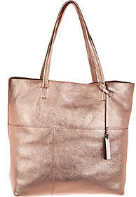 Vince Camuto Metallic Leather Tote Bag - Risa