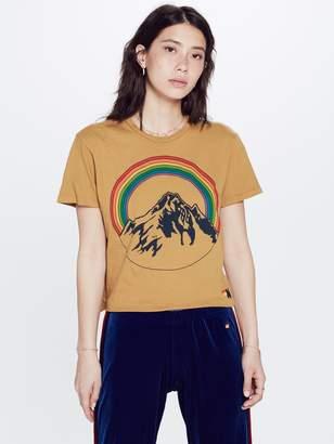Aviator Nation Mountain Rainbow Boyfriend Tee - Yellow