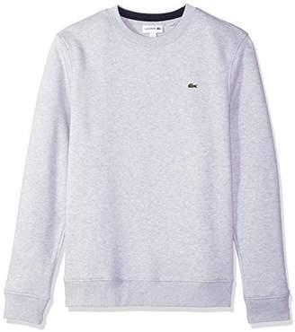 Lacoste Men's Fleece Sweatshirt with Green Croc-Contrast Details