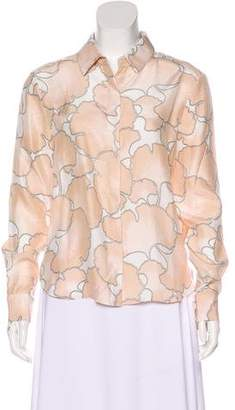 Veda Long Sleeve Button Up Top