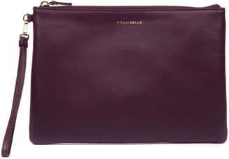Coccinelle Plum Color New Best Soft Leather Purse