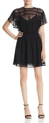 Scotch & Soda Dotted-Mesh Illusion Dress
