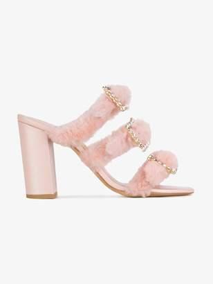 Kalda Pink Thelma 110 Shearling Mules