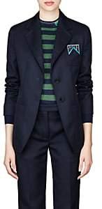 Prada Women's Twill Two-Button Blazer - Navy