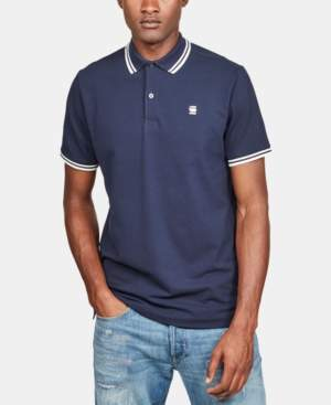 G Star Raw Men's Slim-Fit Striped-Trim Polo, Created for Macy's