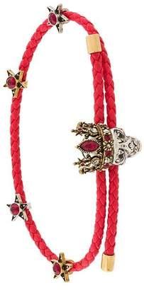 Alexander McQueen woven skull friendship bracelet