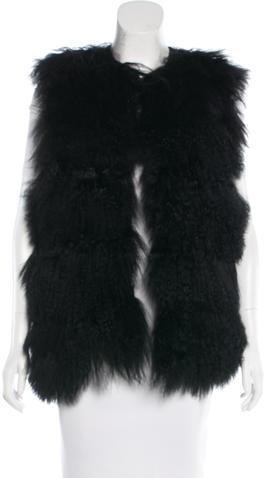 Chloé Chloé Mongolian Lamb Reversible Vest