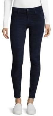 J Brand Ankle Zip Suede Skinny Pants