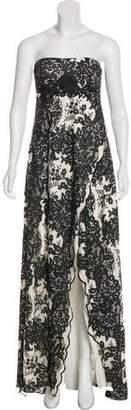Marchesa Lace Scallop-Trimmed Dress