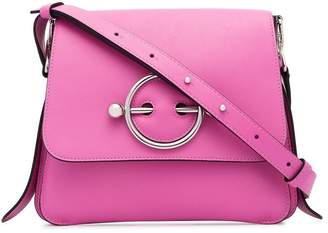 J.W.Anderson pink Disc leather cross-body bag
