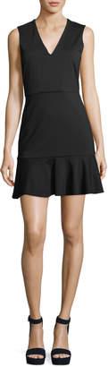 Alice + Olivia Onella V-Neck Sleeveless Fitted Dress