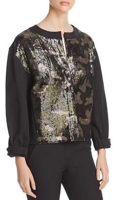 Donna Karan Sequined Camo Jacket