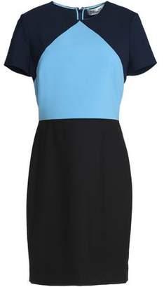 Diane von Furstenberg Color-block Wool-blend Mini Dress