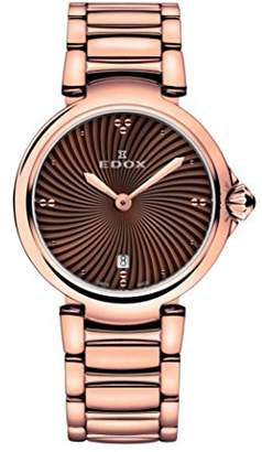 Edox Women's 57002 37RM BRIR LaPassion Analog Display Swiss Quartz Rose Gold Watch