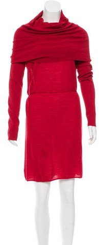 Adam Merino Wool Off-The-Shoulder Dress