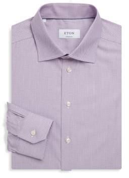 Eton Contemporary-Fit Dotted Cotton Dress Shirt