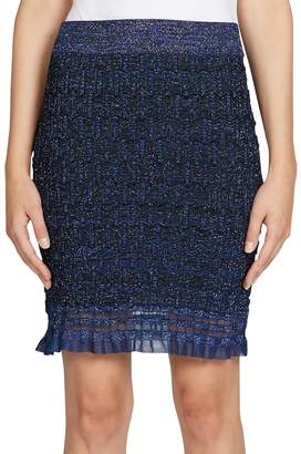Kenzo Women's Ruffle Lurex Knit Skirt