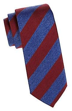 Charvet Men's Silk& Wool Repp Tie