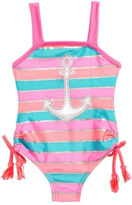 Love U Lots Anchor One-Piece Swimsuit (Baby Girls)